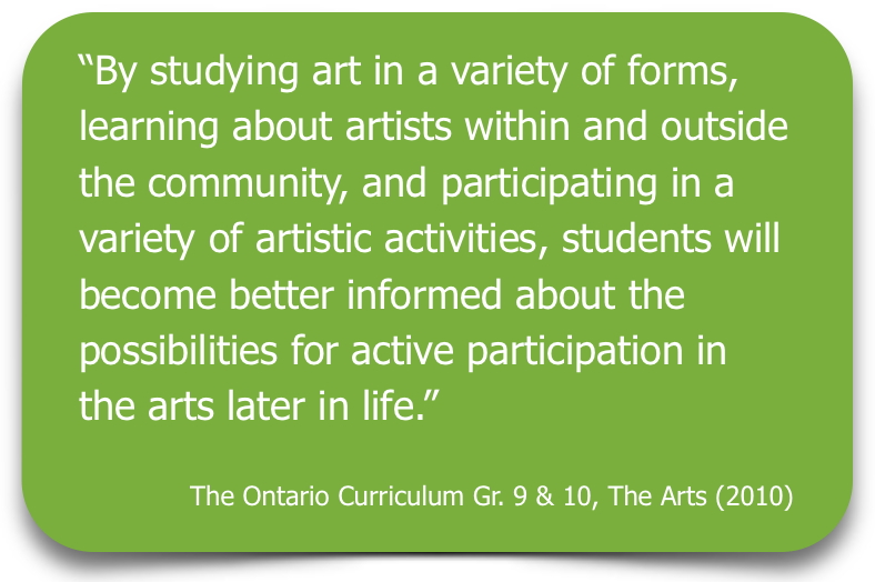 Arts Curriculum Quote